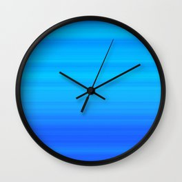 Blue Sea Stripes Wall Clock
