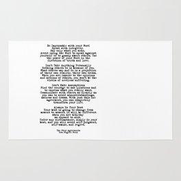 The Four Agreements #minimalist 3 Rug