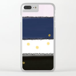 Abstract Rectangles Clear iPhone Case