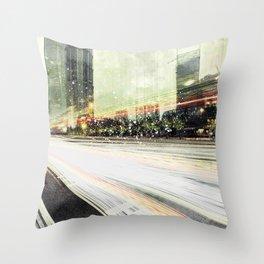 Tokyo Lights Throw Pillow