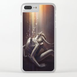 The Fallen Angel Clear iPhone Case