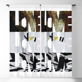 Love, love, love you Blackout Curtain