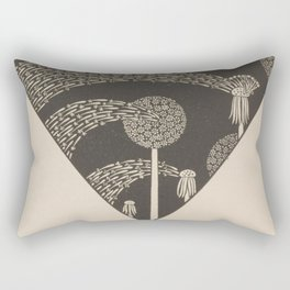 Art Nouveau Dandelion Seeds Rectangular Pillow
