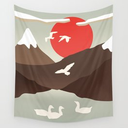 Swan Migration Wall Tapestry