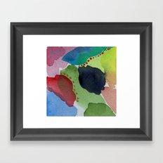Watercolor Abstract Mini Series # 11 Framed Art Print