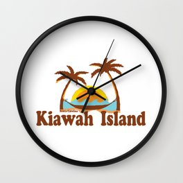 Kiawah Island - South Carolina. Wall Clock