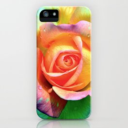 LGBT rose iPhone Case