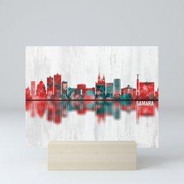Samara Russia Skyline Mini Art Print
