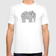 Ampersand Elephant MEDIUM Mens Fitted Tee White