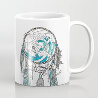 dream catcher Mugs featuring Dream Catcher by Huebucket