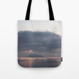 sunrise over the sea, sicily Tote Bag
