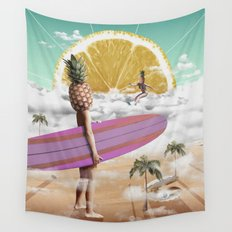 Sweet Surfing Wall Tapestry