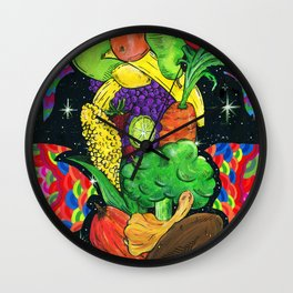 Eat Your Fruits and Veggies Wall Clock