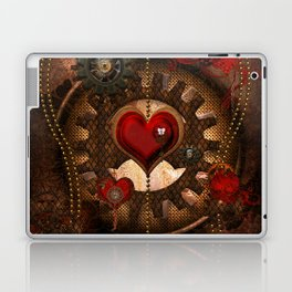 Steampunk, awesome steampunk heart Laptop & iPad Skin