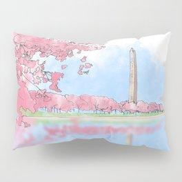 Cherry Blossom - Washington Monument Pillow Sham