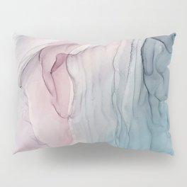 Calming Pastel Flow- Blush, grey and blue Pillow Sham
