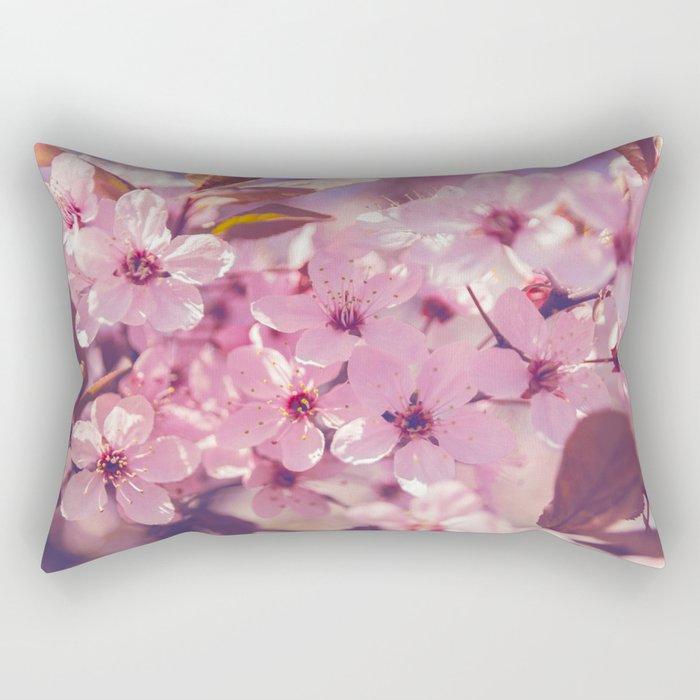 Sakura photography, pink blossoms Rectangular Pillow