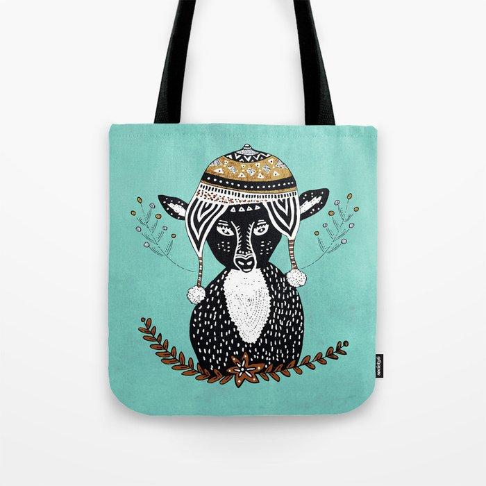 Hipster Deer Tote Bag