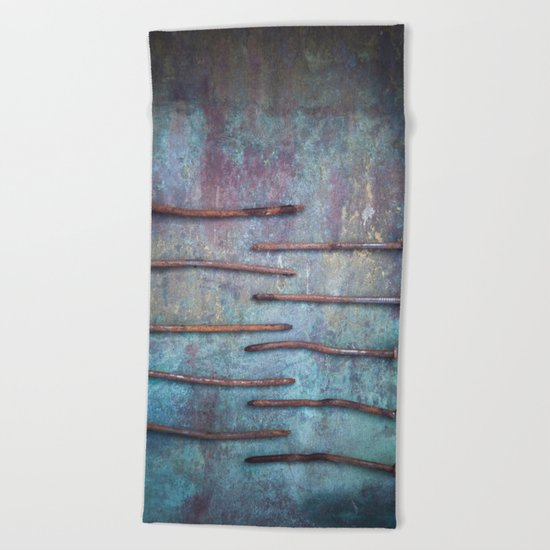 Ten Nails Beach Towel