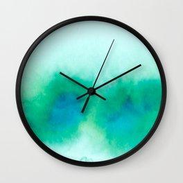 Green Blue Haze Wall Clock