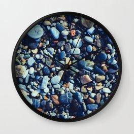 Wet Pebble Wall Clock