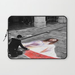 Street Art in Bologna Black and White Photography Color Laptop Sleeve