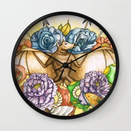 Of Bats & Snakes Wall Clock