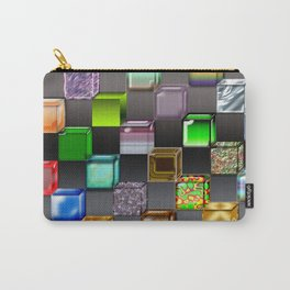 Cubes with abstract colors and gradients Carry-All Pouch