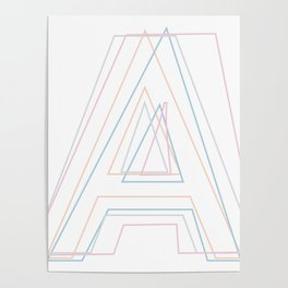 Intertwined Strength and Elegance of the Letter A Poster