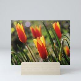 Windy Day Tulips Mini Art Print