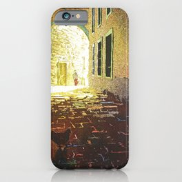 Chicken and alleyway in the UNESCO World Heritage city of G iPhone Case