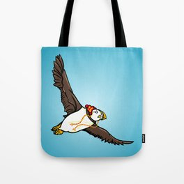 Puffin Wearing A Hat Tote Bag