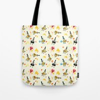 bill cipher Tote Bags featuring Bill cipher by ChibiGaia