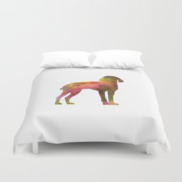 Auvergne Pointer in watercolor Duvet Cover