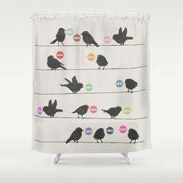 Birdsong_Gosh by Garima & Rachel  Shower Curtain