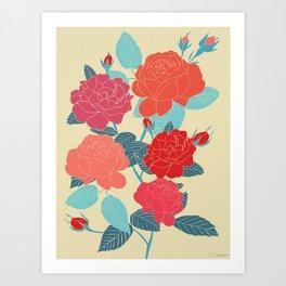 Rose Garden - Light Art Print