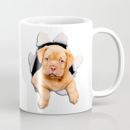 Puppy escaping from the hole Coffee Mug