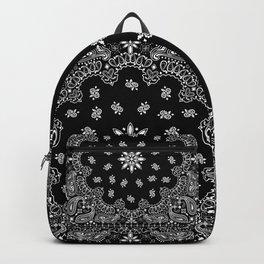 black and white bandana pattern Backpack