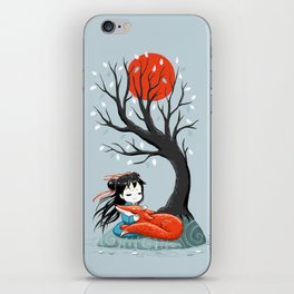 Girl and a Fox 2 iPhone Skin