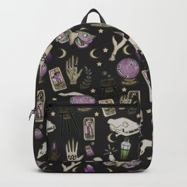 WITCH pattern • in black salt Backpack