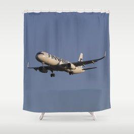 Finnair Airbus A321 Shower Curtain