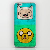 finn and jake iPhone & iPod Skins featuring Finn & Jake by WolfFace