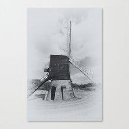 Post mill windmill mono Canvas Print