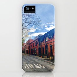 STOP For Brooklyn Heights Brownstone Red Brick Love iPhone Case