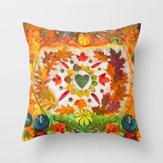 Autumn mandala Throw Pillow