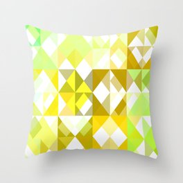 Pale Yellow Poinsettia 1 Abstract Triangles 1 Throw Pillow