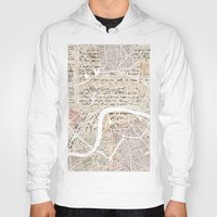london map Hoodies featuring London map by Mapsland