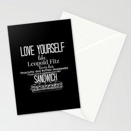 Love Yourself like Leopold Fitz Loves his Prosciutto and Buffalo Mozzarella Sandwich - AoS Stationery Cards