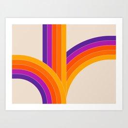 Bounce - Rainbow Art Print