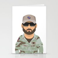 chris evans Stationery Cards featuring Chris by Capitoni